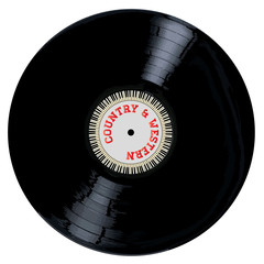 A typical LP vinyl record with the legend Country and Western