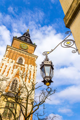 Old Town Hall at Main Market Square Krakow, Poland, Europe
