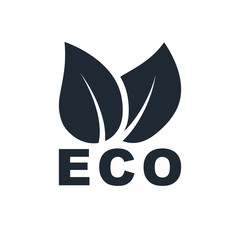 leaves eco icon