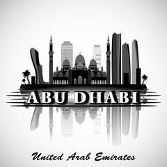 Modern Abu Dhabi City Skyline Design. United Arab Emirate