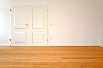 Wohnzimmer Altbau-Wohnung mit Parkett und Holzdielenboden