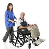 Volunteer Working with the Elderly