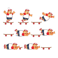 Fat Boy Skater Falling Sprite