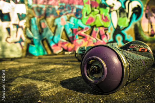 Spray Can Used For Graffiti | Stock image - 82576615