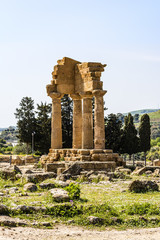 Temple of Dioscuri - Castor and Pollux - at Valley of Temples