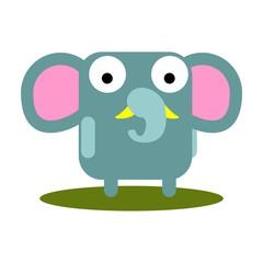 Cute Elephant with large eyes cartoon