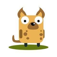 Cute Hyena with large eyes cartoon