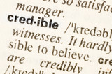 Dictionary definition of word credible poster