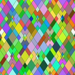 Seamless pattern of geometric shapes. Rhombuses. Geometric backg