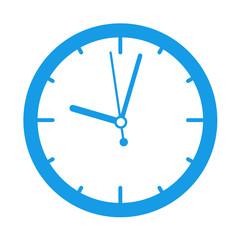 Icono redondo reloj azul