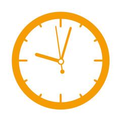 Icono redondo reloj naranja