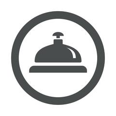 Icono redondo timbre hotel gris