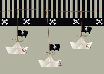 barco papel pirata