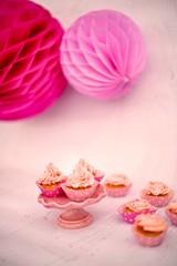 Gluten-Free Pink Mini Cupcakes