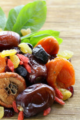 Assorted dried fruits (raisins, apricots, figs,)