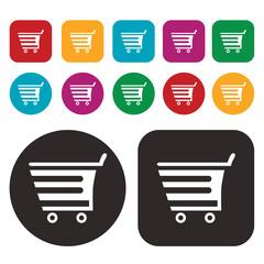shopping cart icon / trolley icon