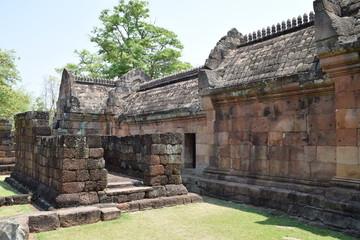 Tempelmauer in Phanom Rung