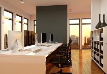 modernes Büro Visualisierung