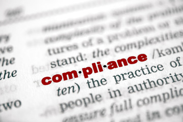 Compliance - rote Schrift