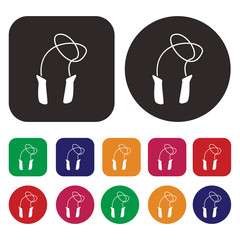 Jumping Rope icon / Skipping rope icon