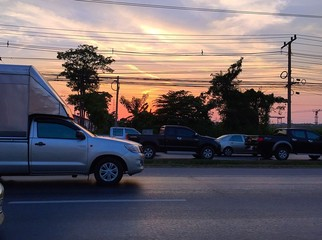traffic in capital city.