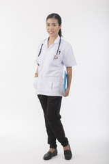 Young attractive asian doctor