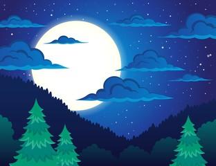 Night topic landscape 1