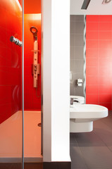 Luxurious red bathroom