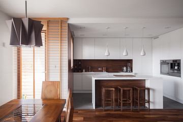 Brown and white home design