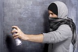 Graffiti guy in action