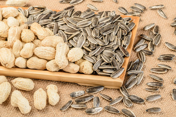 sunflower seeds and peanuts
