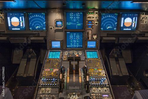 Verkehrsflugzeug, Cockpit Poster