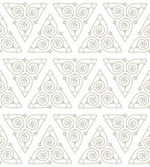 Seamless background pattern of Art Nouveau motifs