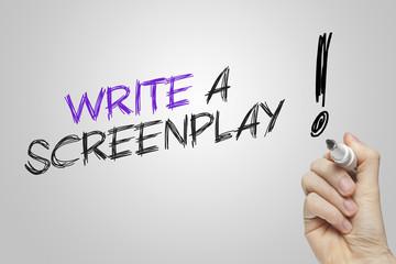 Hand writing write a screenplay