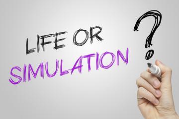 Hand writing life or simulation