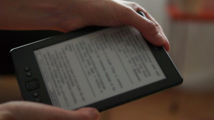 E-Book Reader Being Used