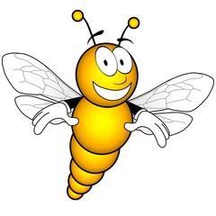 abeille souriante vecteur