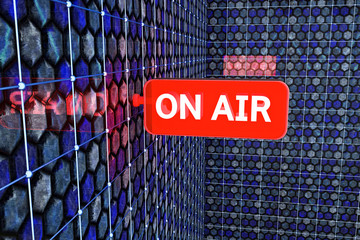 ON AIR Sign - 3d Render