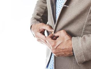 Dettaglio uomo con giacca