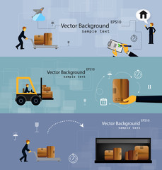 Illustration logistics safekeeping delivery shipping