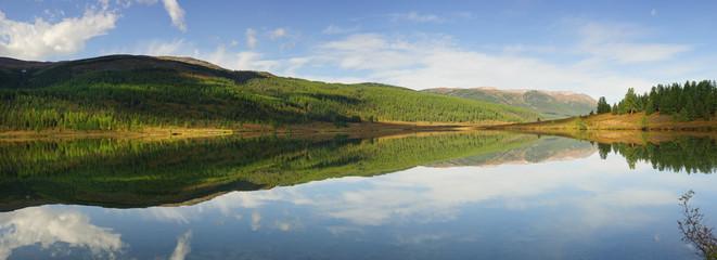 Mountain lake, Ulagan plateau, Altai
