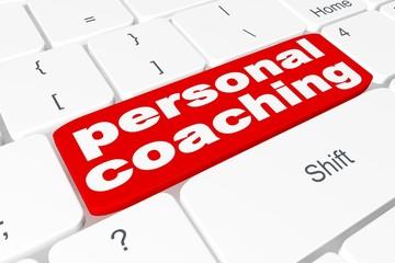 "Button ""personal coaching"" on keyboard"