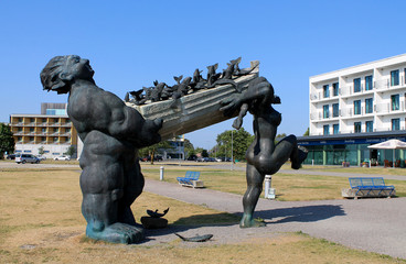 Suur Tyll - Hero of Estonian mythology sculpture