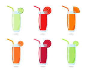 Set 6 vegetable juice