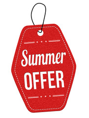 Summer offer label or price tag