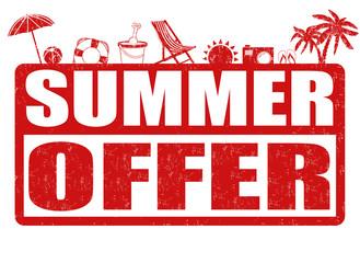 Summer offer stamp