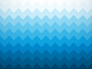 Modern jagged blue ocean background