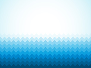Modern blue background with ocean waves and vignette
