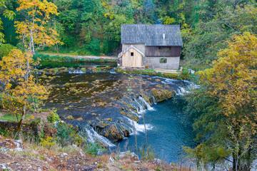 Old mill at river Slunjcica