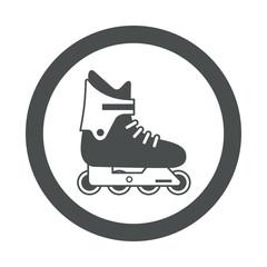 Icono redondo patinar gris